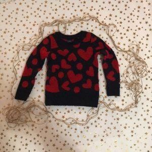 GAP heart sweater